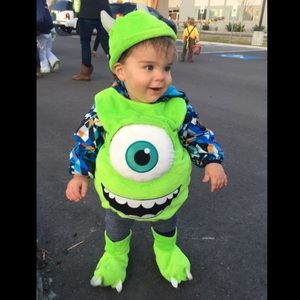 Halloween Costume Mike Wazowski Disney MonstersInc